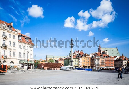 Uitzicht op straat centraal Warschau stad straat reizen Stockfoto © ilolab