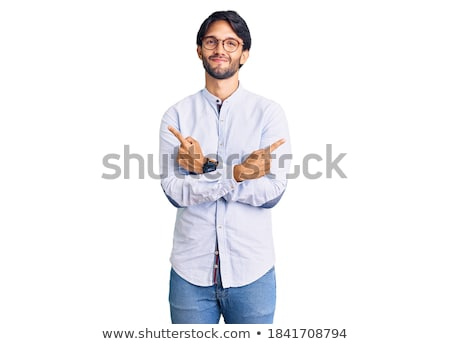 portré · jóképű · mosolyog · férfi · bőrdzseki · pózol - stock fotó © feedough