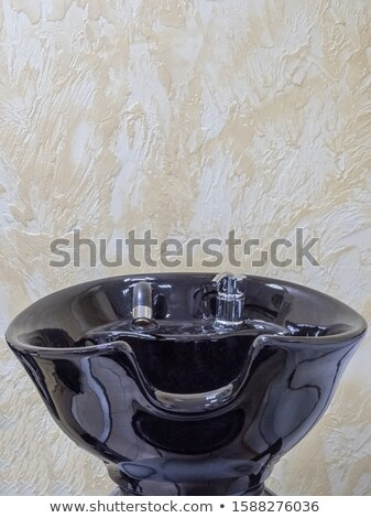 Kapper witte ontwerp haren schoonheid dienst Stockfoto © vwalakte
