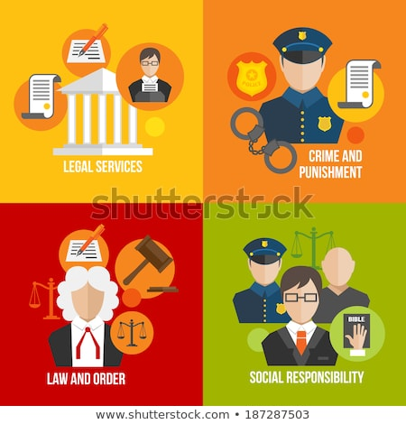 Crime and Punishment Flat Icons Stock photo © -TAlex-