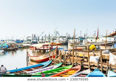 Stock fotó: Kikötő · Dzsakarta · Indonézia · óceán · halászat · Ázsia