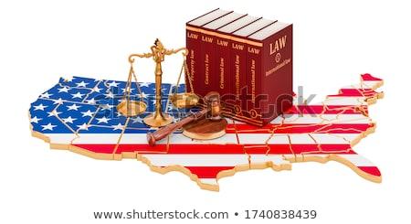 Alaptörvény izolált fehér Egyesült Államok Amerika törvény Stock fotó © klikk