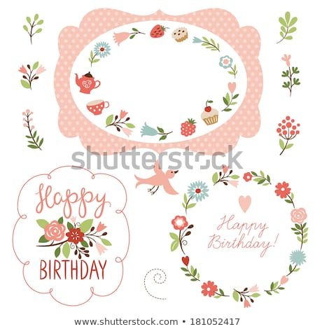 Stock photo: cake and flowering twig