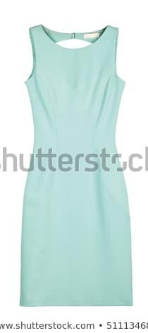 vrouw · witte · jurk · geïsoleerd · witte · meisje - stockfoto © elnur