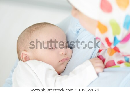 Muslim young woman with little cute baby in arms Stock photo © zurijeta