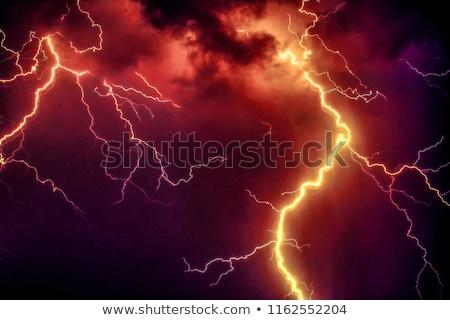 bolt of lightening in a night sky stock photo © d13