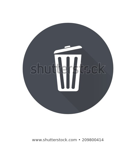 Stock photo: Bin icon , Flat design style, vector illustration. long shadow i