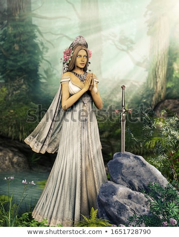 beautiful woman in a forest stock photo © anna_om