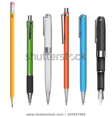 piśmie · wieczne · pióro · papieru · czarny · atramentu · edukacji - zdjęcia stock © thomasamby