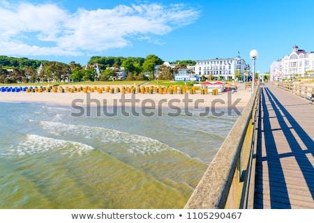 Plaża piaszczysta plaży niebo morza piękna lata Zdjęcia stock © szabiphotography