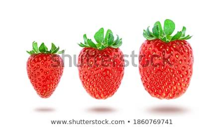 Stockfoto: Aardbei · geïsoleerd · witte · xxl · vruchten