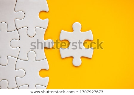 Completed jigsaw puzzle as copy space, top view Stock photo © stevanovicigor