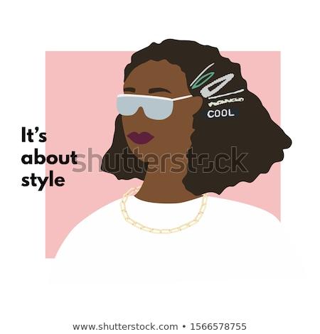 nő · fekete · afro · szexi · nő · hajviselet · visel - stock fotó © neonshot