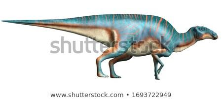 Plantenetend dinosaurus illustratie groot achtergrond groene Stockfoto © bluering