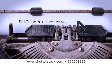 happy new year 2017 typewriter stock photo © ivelin