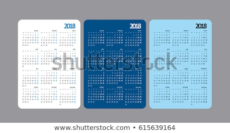 grid · kalender · illustratie · vector · formaat · ontwerp - stockfoto © orensila