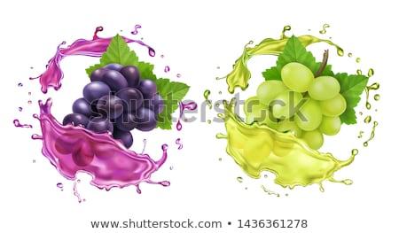 ワイングラス · ブドウ · 木製のテーブル · 食品 · 葉 · フルーツ - ストックフォト © stephaniefrey