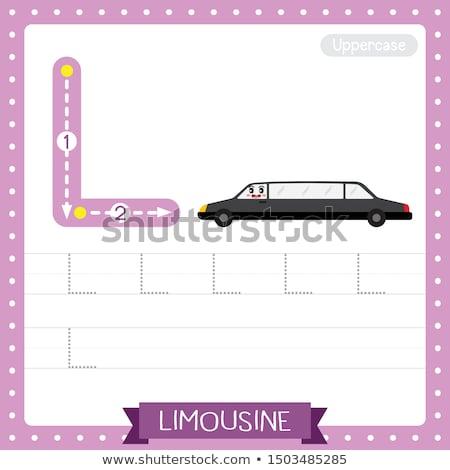 Letter l limousine illustratie achtergrond kunst onderwijs Stockfoto © bluering