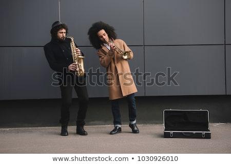 Rua músico violinista jogar violino música Foto stock © simply
