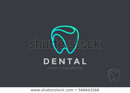 Dental logotipo modelo ícone crianças abstrato Foto stock © Ggs