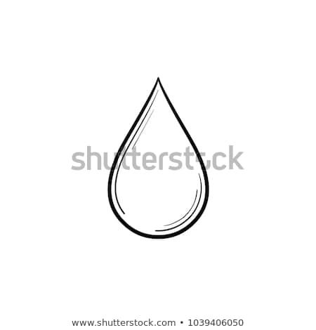 Olie drop schets icon vector geïsoleerd Stockfoto © RAStudio