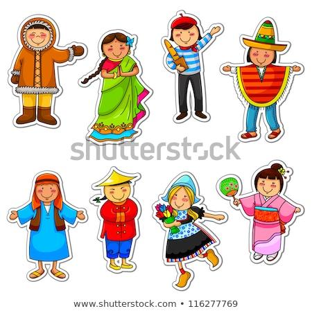 eskimo woman vector illustration clip art image stock photo © vectorworks51