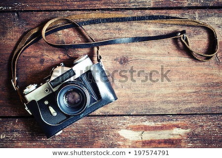 Old fashioned photography camera Stock photo © iko
