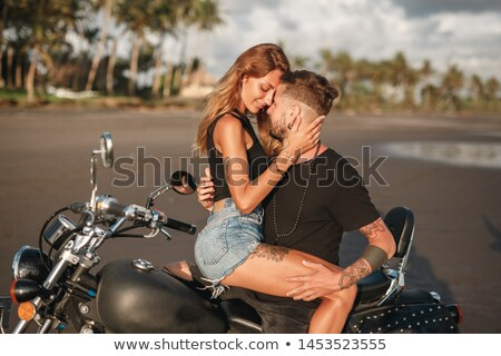 two blonde on a motorcycle Stock photo © ssuaphoto