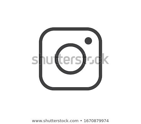 Medios de comunicación social icono foto cámara instagram iconos Foto stock © softulka