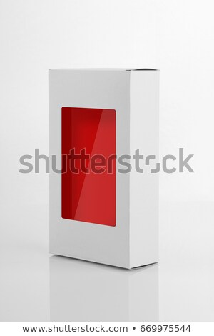 Prodotto imballaggio finestra carta bianco Foto d'archivio © Akhilesh