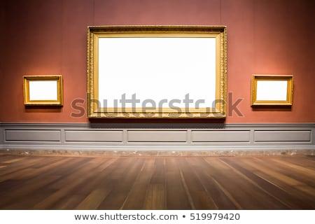 Intérieur musée contemporain galerie tableaux photos Photo stock © ssuaphoto