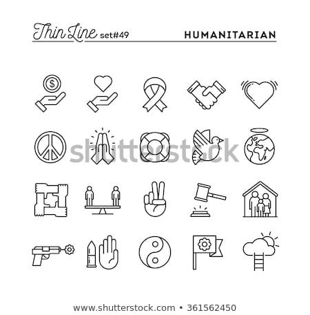 religion line icons set stock photo © voysla