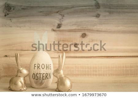 Pasqua piccolo uova naturale nido legno Foto d'archivio © andreasberheide