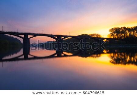 Branik bridge at sunrise. Prague, Czech Republic Stock photo © CaptureLight