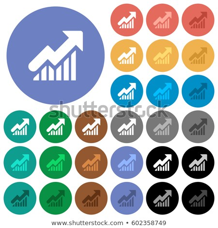 benefits chart icon with shade on colored background stock photo © imaagio