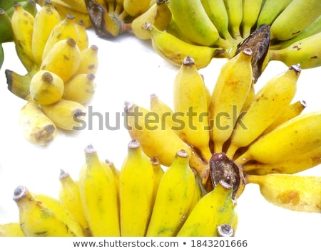 bunch of bananas isolated on white background banana icon bana stock photo © kurkalukas