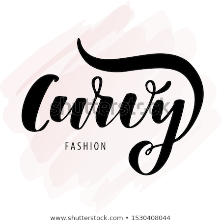 Logo plus size woman. Curvy symbol. Vector illustration. Stock photo © lucia_fox