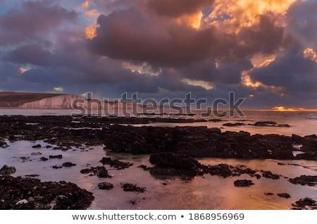 hét · nővérek · sziklák · dél · Sussex · égbolt - stock fotó © suerob