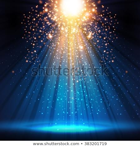 Abstrato azul etapa holofote vetor Foto stock © tuulijumala