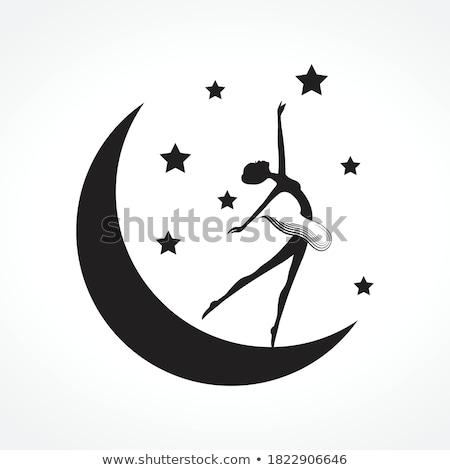 Ballet luz de la luna ilustración luna azul femenino Foto stock © adrenalina