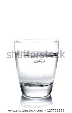 vidrio · agua · píldora · blanco · salud · medicina - foto stock © paulinkl