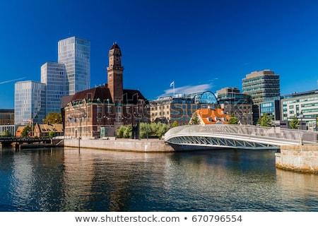 красивой облачный лет день город Сток-фото © Estea