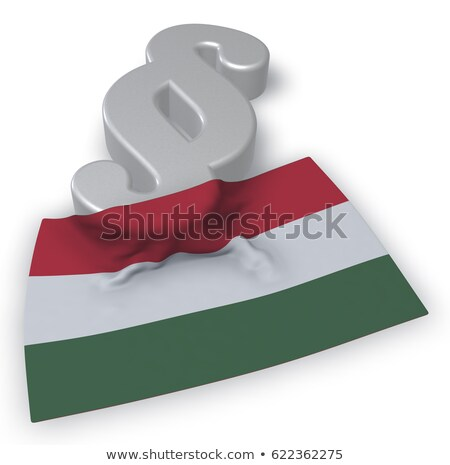 paragraph symbol and flag of hungary   3d rendering stock photo © drizzd