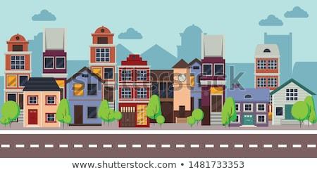 ingesteld · huizen · huis · iconen · geïsoleerd · grijs - stockfoto © curiosity