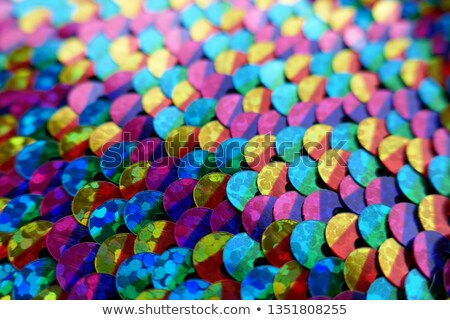 Many Colorfull Fabric Cloth Textures With Pattern Blur or Bokeh Stock photo © gregorydean