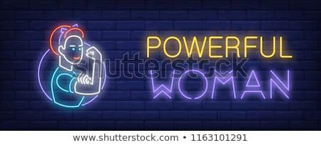 Feminismo néon ilustração mulheres Foto stock © 72soul