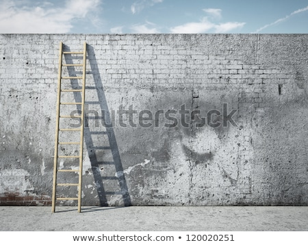 Obstacle overcoming. 3d render. On light background. Stock photo © anyunoff