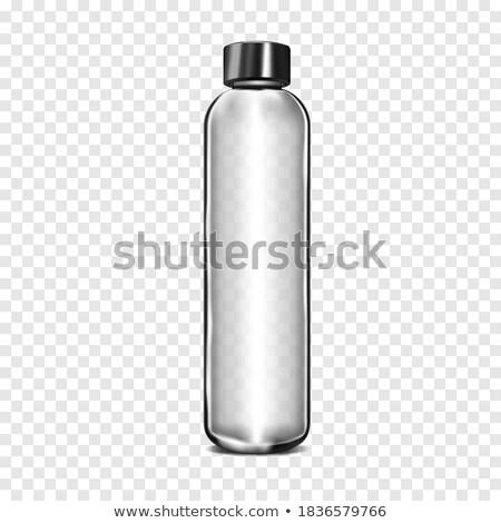 üres magas keskeny üveg izolált fehér Stock fotó © Cipariss