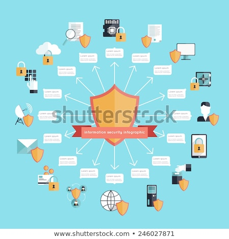 candado · escudo · seguridad · bloqueo · icono · ordenador - foto stock © orson