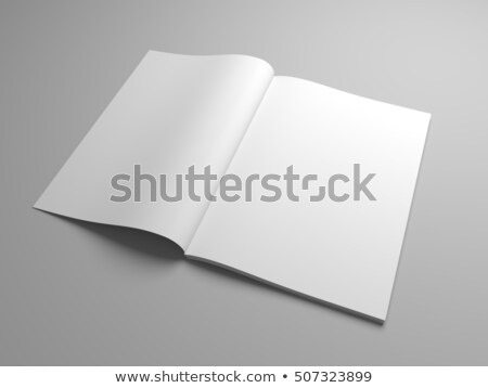 Blank opened magazine, book, booklet o brochure. 3D Stock photo © user_11870380